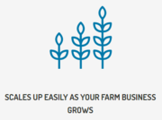Scales up easily as your farm business grows