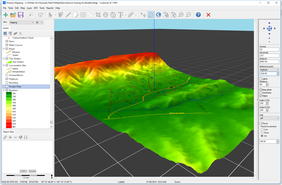 Map with 3D elevation