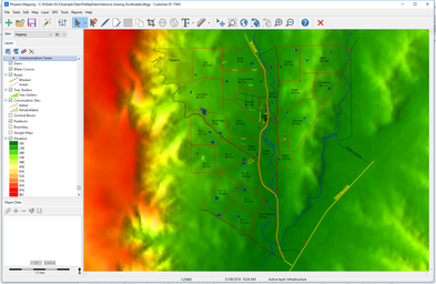 Farm Mapping Software showing elevation data