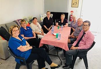 Toowoomba Medical Centre staff celebrating at Christmas party
