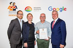 Recognised by the Regional Australia Institute, Google Australia for digital innovation.