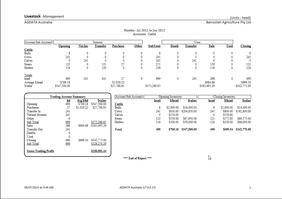 Livestock Report