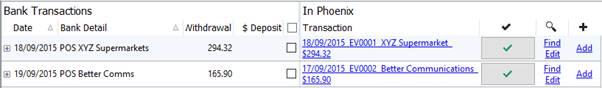 Bank EFT Transactions