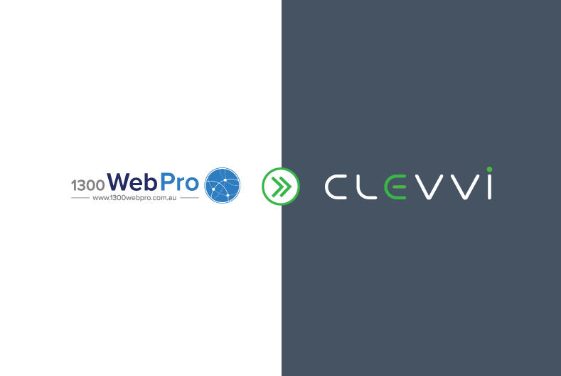 1300 Web Pro to Clevvi Re-Brand